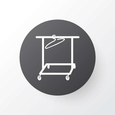 Clothing rack icon symbol. Premium quality isolated hanger element in trendy style. Illustration