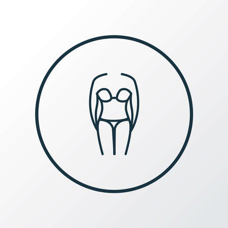 Bikini icon line symbol. Premium quality isolated swimsuit element in trendy style.