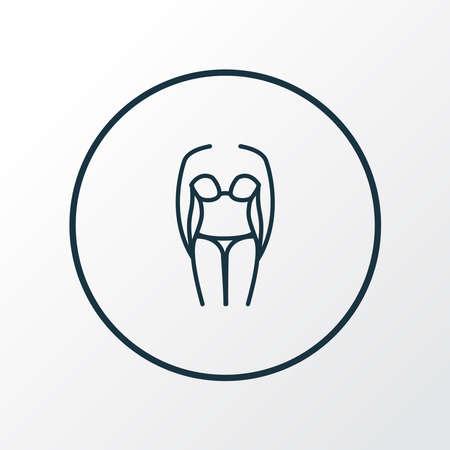Bikini icon line symbol. Premium quality isolated swimsuit element in trendy style.