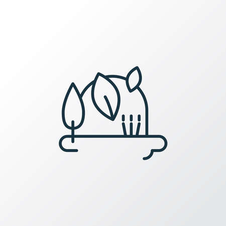Flora icon line symbol. Premium quality isolated forest element in trendy style.