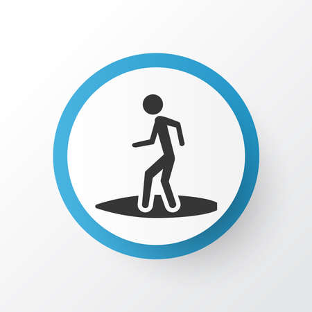 Surfer icon symbol. Premium quality isolated surfing element in trendy style. Illustration