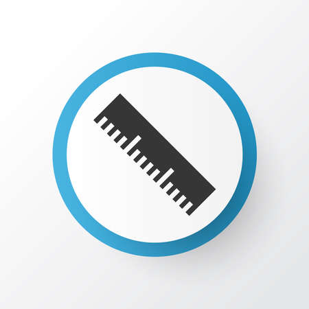 Measurement icon symbol. Premium quality isolated ruler element in trendy style.