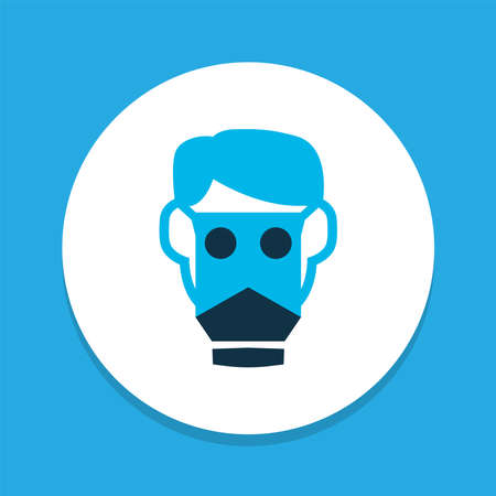 Respirator icon colored symbol. Premium quality isolated gas mask element in trendy style.