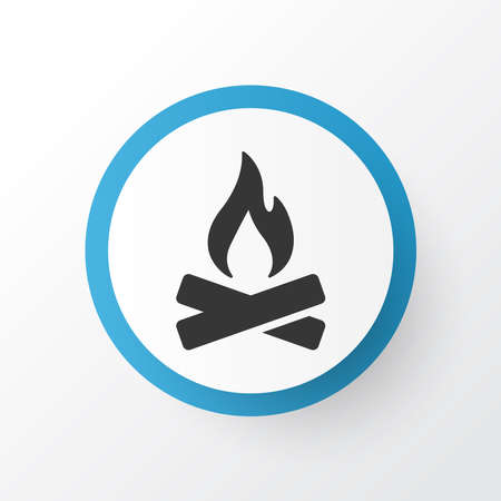 Bonfire icon symbol. Premium quality isolated campfire element in trendy style. Illusztráció