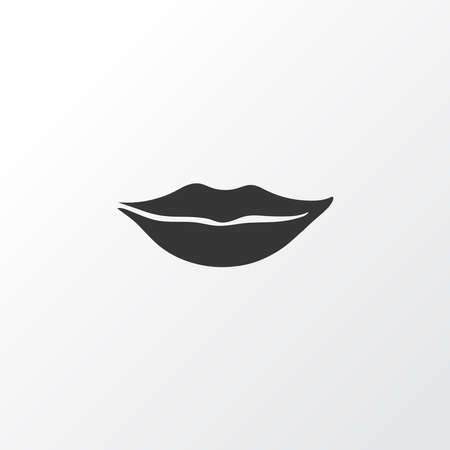 Lips icon symbol. Premium quality isolated mouth element in trendy style.