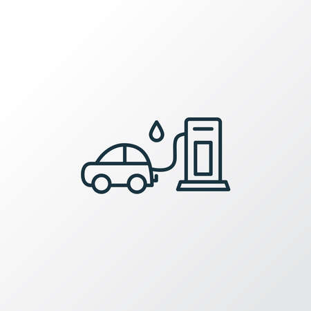 Gas station icon line symbol. Premium quality isolated fuel element in trendy style.