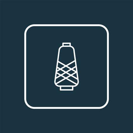 Spool icon line symbol. Premium quality isolated bobbin element in trendy style.
