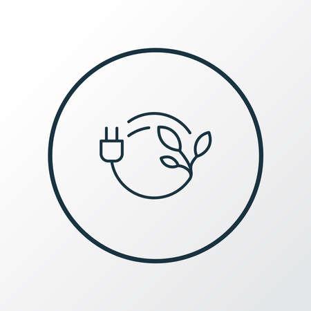 Bio energy icon line symbol. Premium quality isolated eco plug element in trendy style.