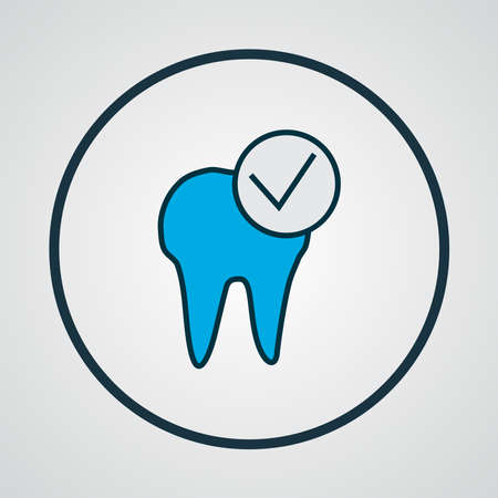 Dental care icon colored line symbol. Premium quality isolated healthcare element in trendy style.