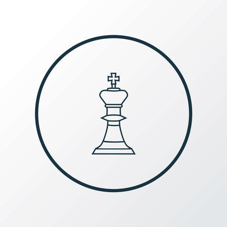 Chess icon line symbol. Premium quality isolated figure element in trendy style.