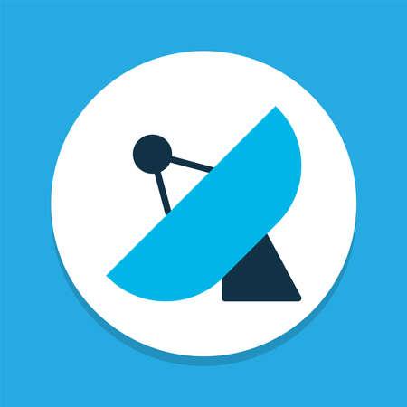 Sputnik antenna icon colored symbol. Premium quality isolated satellite element in trendy style.
