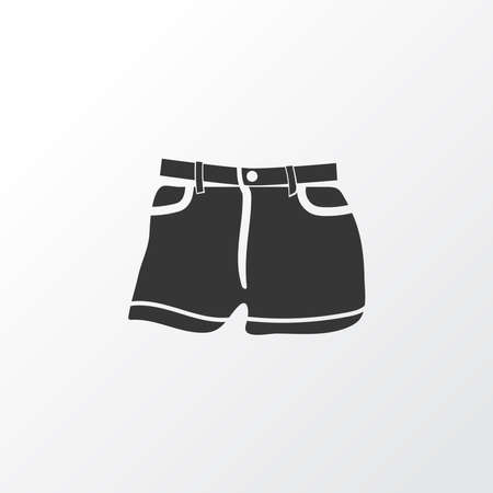 Beachwear icon symbol. Premium quality isolated shorts element in trendy style.