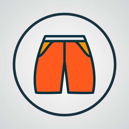 Shorts icon colored line symbol. Premium quality isolated swimming trunks element in trendy style.