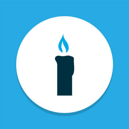 Candle icon colored symbol. Premium quality isolated fire wax element in trendy style.