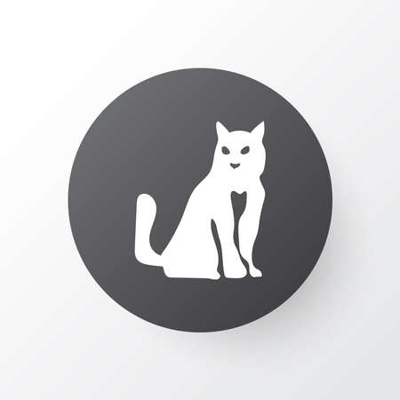 Cat icon symbol. Premium quality isolated kitten element in trendy style.