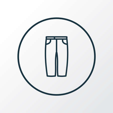 Capris icon line symbol. Premium quality isolated breeches element in trendy style. Ilustração