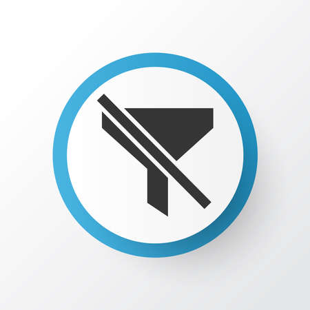 Filtration icon symbol. Premium quality isolated no filter element in trendy style. Illustration