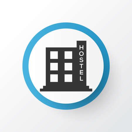 Hostel icon symbol. Premium quality isolated hotel element in trendy style.