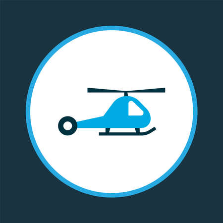 Helicopter icon colored symbol. Premium quality isolated chopper element in trendy style.