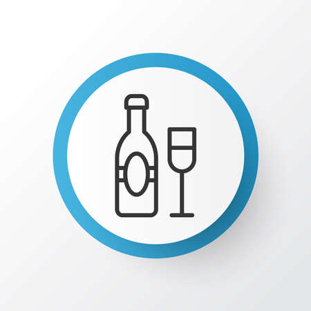 Champagne icon symbol. Premium quality isolated wine element in trendy style.