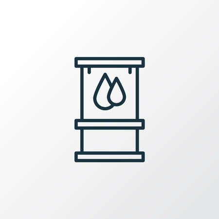 Gasoline canister icon line symbol. Premium quality isolated oil barrel element in trendy style. Ilustrace
