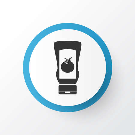 Ketchup icon symbol. Premium quality isolated tomato element in trendy style. Ilustração