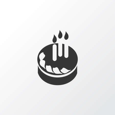 Birthday cake icon symbol. Premium quality isolated pastry element in trendy style. Ilustração
