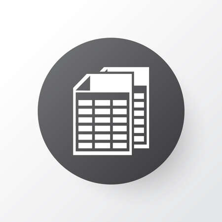 Spreadsheets icon symbol. Premium quality isolated document element in trendy style.