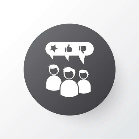 Customer testimonials icon symbol. Premium quality isolated recommended element in trendy style.