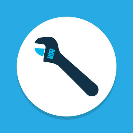 Adjustable wrench icon colored symbol. Premium quality isolated plumber element in trendy style.