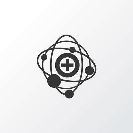 Nuclear medicine icon symbol. Premium quality isolated radiation element in trendy style.