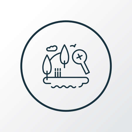 Explore nature icon line symbol. Premium quality isolated discovery element in trendy style.