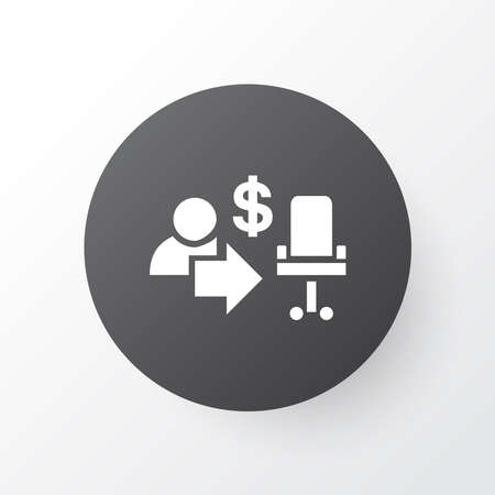 Employee icon symbol. Premium quality isolated businessman element in trendy style.