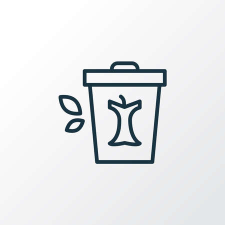 Compost bin icon line symbol. Premium quality isolated garbage element in trendy style. Illustration