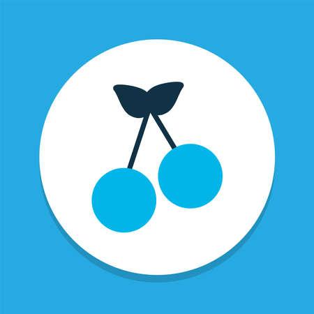 Cherry icon colored symbol. Premium quality isolated morello element in trendy style.