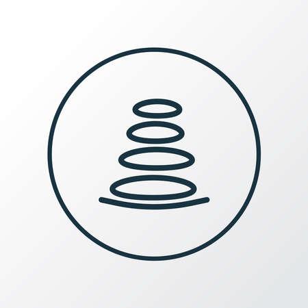 Spa stones icon line symbol. Premium quality isolated zen element in trendy style. Çizim