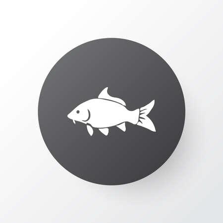 Carp icon symbol. Premium quality isolated haddock element in trendy style.