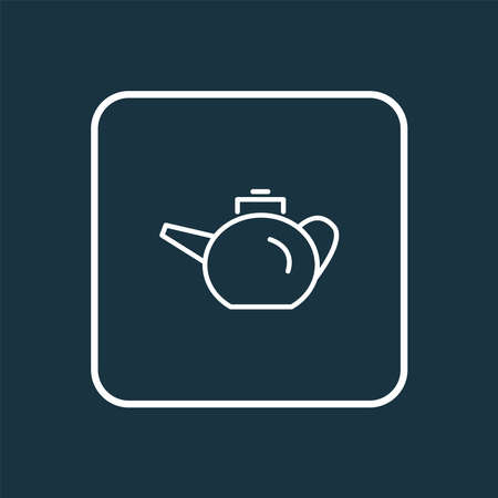 Teapot icon line symbol. Premium quality isolated kettle element in trendy style. Ilustração