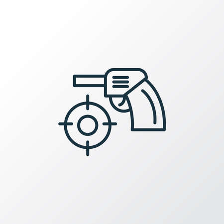Shooting game icon line symbol. Premium quality isolated focus element in trendy style. Illustration