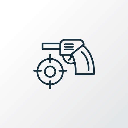 Shooting game icon line symbol. Premium quality isolated focus element in trendy style. Ilustracja