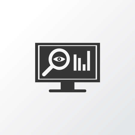 SEO monitoring icon symbol. Premium quality isolated research element in trendy style. Ilustração