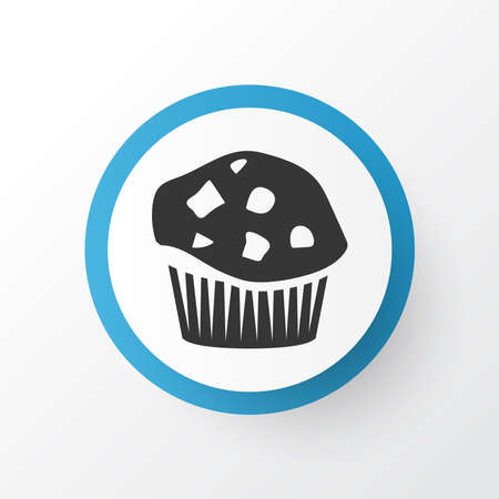 Muffin icon symbol. Premium quality isolated cupcake element in trendy style.