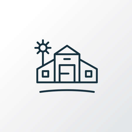 Farm house icon line symbol. Premium quality isolated village element in trendy style.