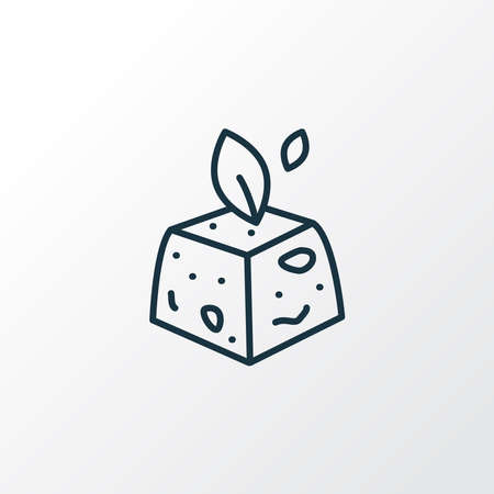 Tofu icon line symbol. Premium quality isolated cheese element in trendy style. Stok Fotoğraf