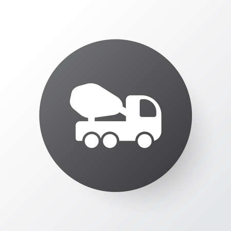 Concrete mixer icon symbol. Premium quality isolated cement machine element in trendy style.