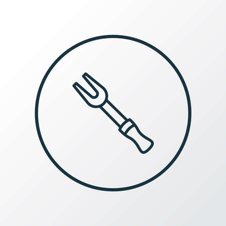 Barbecue fork icon line symbol. Premium quality isolated bbq tool element in trendy style.