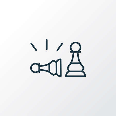 Pawn beats pawn icon line symbol. Premium quality isolated playing element in trendy style.