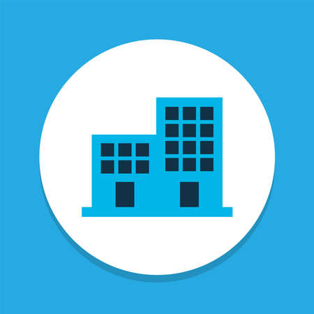 Office building icon colored symbol. Premium quality isolated apartment element in trendy style. Stok Fotoğraf