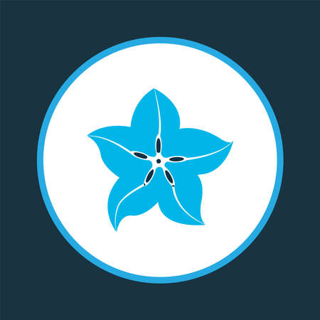 Carambola icon colored symbol. Premium quality isolated starfruit element in trendy style. Illustration