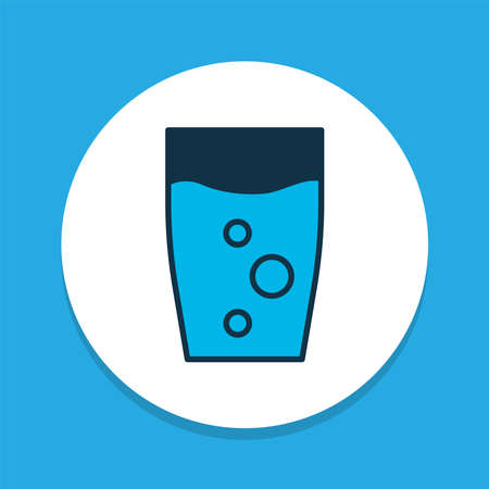 Water glass icon colored symbol. Premium quality isolated soda element in trendy style.